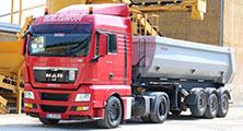 Kippsattel für Kies- und Sandtransporte von Salomon Stransporte Bamberg